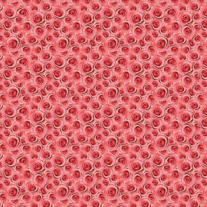 Vinylová Tapeta Bezešvé abstraktní červená růže pozadí - Štěstí