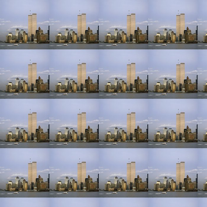 NYC Skyline With The Twin Towers Vinyl Wallpaper - Themes