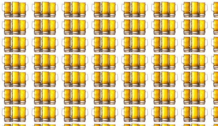 Vinylová Tapeta Pivo hrnky - Alkohol
