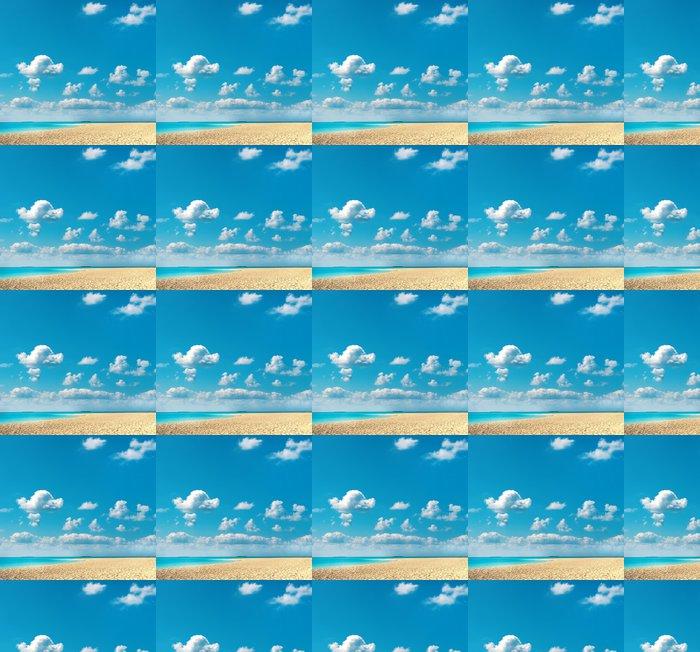 Vinylová Tapeta Písečná pláž s modrou oblohou - Témata