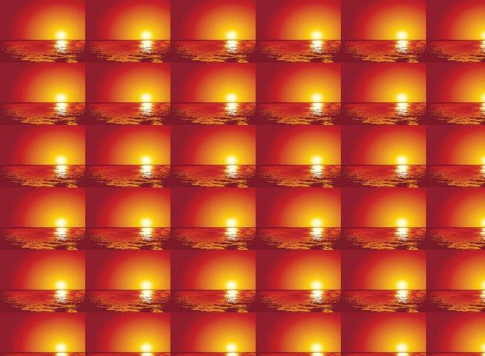 Vinylová Tapeta Západ nebo východ slunce na moři, ilustrace - Pozadí