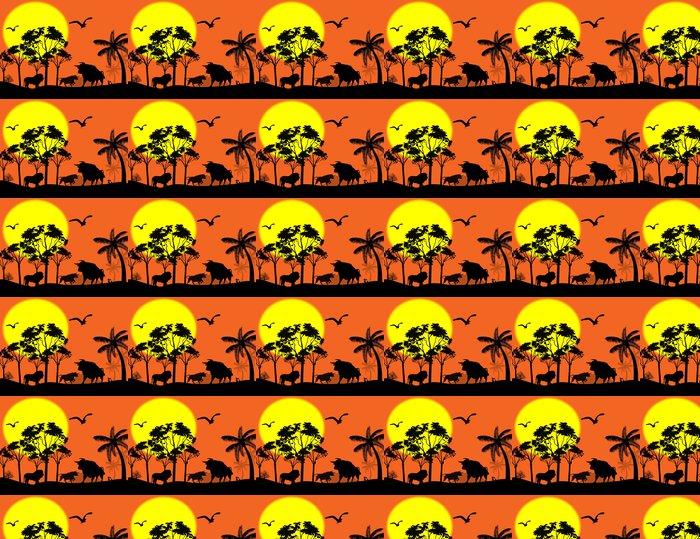 Vinylová Tapeta Volně žijících živočichů v krásné krajině - Savci