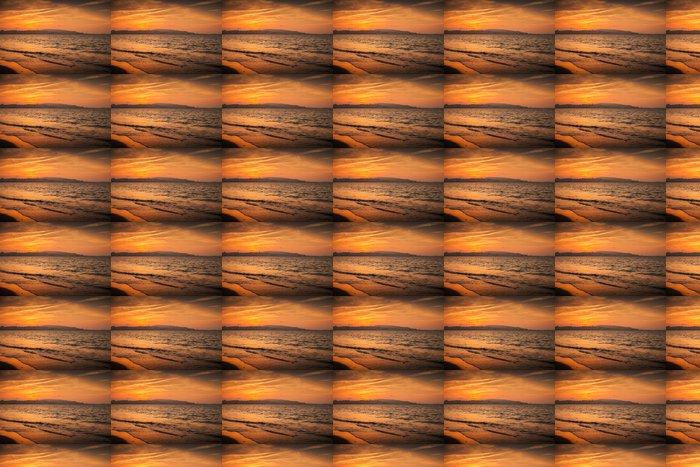 Vinylová Tapeta Atlantském oceánu červený západ slunce v Tangeru, Maroko - Afrika