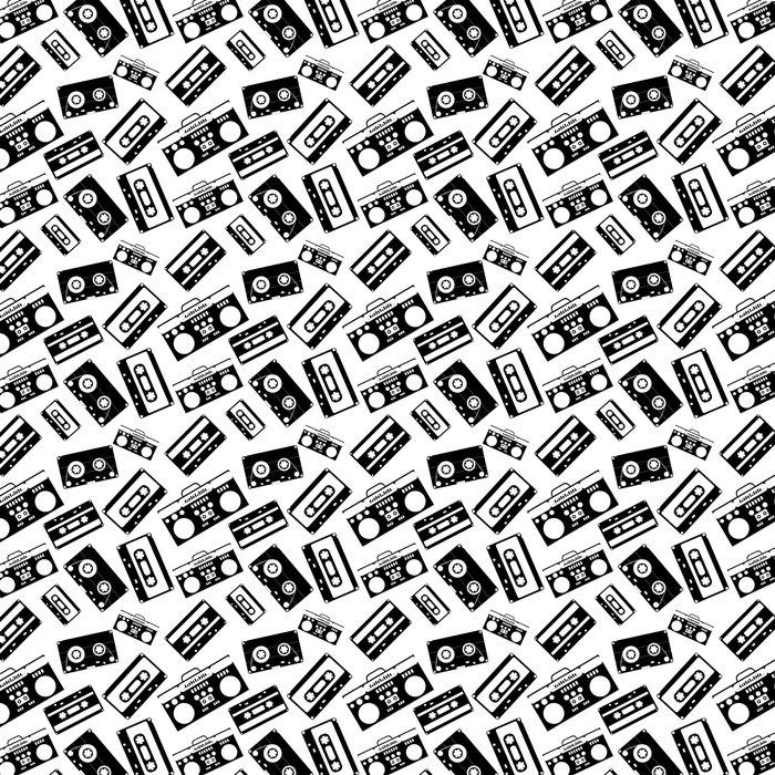 tapete 80er jahre nostalgie stil vintage retro 80er vektor mode nahtlose muster pixers. Black Bedroom Furniture Sets. Home Design Ideas