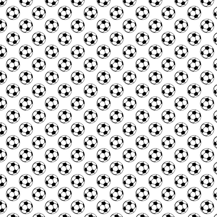 Vinylová Tapeta Bezešvé vzor s fotbalovými nebo fotbalové míče - Týmové sporty