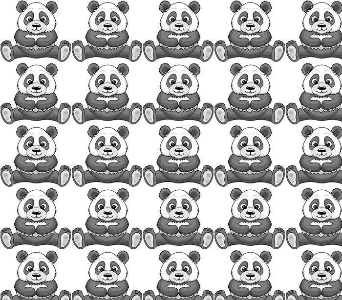Vinylová Tapeta Karikatura panda - Nálepka na stěny