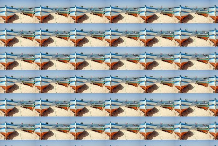 Vinylová Tapeta Bateau de pêche sur la plage d'Hammamet 10 - Afrika