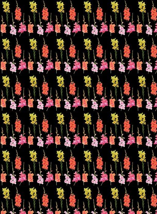 Vinylová Tapeta Pět mečík květiny na černém pozadí - Květiny