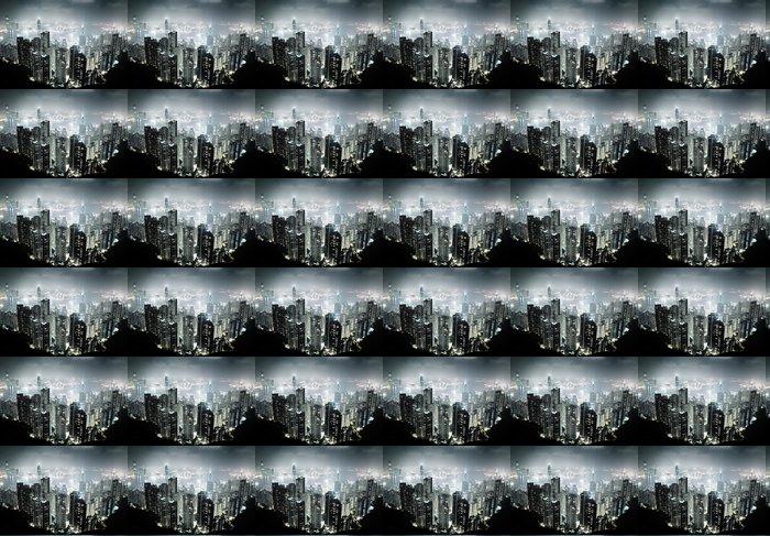 Vinylová Tapeta Hong Kong ostrov z vrcholu Victoria v noci - Asijská města