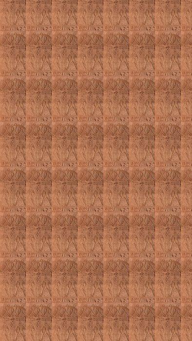 Vinylová Tapeta Grabado del Templo de Ramses II en Abu Simbel en Egipto. - Afrika