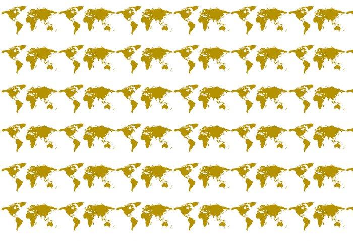 Vinylová Tapeta Ilustrovaný pozadí světové mapě - Doplňky a věci