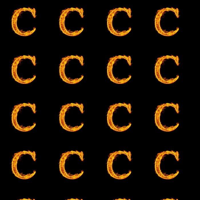 Vinylová Tapeta Požární abeceda písmeno C - Struktury