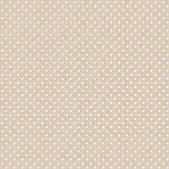 Vinylová Tapeta Ecru a White Polka Dot Fabric pozadí - Témata