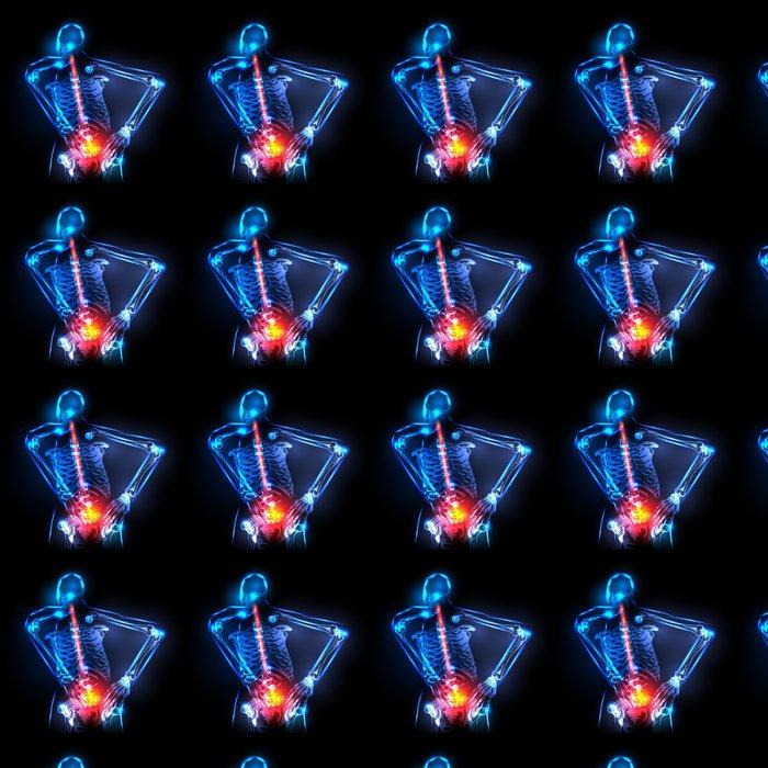 Papel Pintado Espina dorsal humana en vista de rayos x, dolor de ...