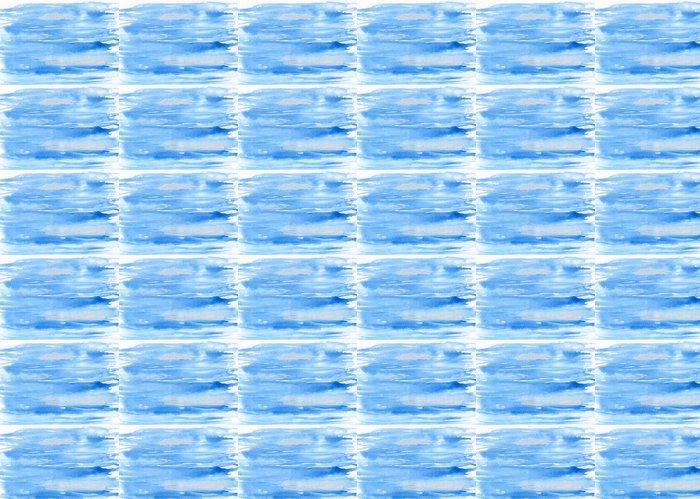 Vinylová Tapeta Abstraktní akvarel ručně malovaná pozadí - modrá obloha - Umění a tvorba