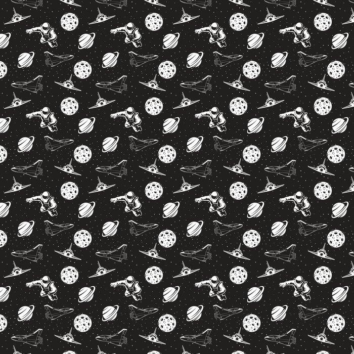 Papel Pintado Espacio de patrones sin fisuras. versión en blanco y ...