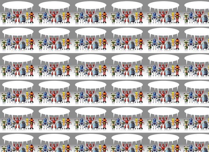 Vinylová Tapeta Cartoon robot karty -