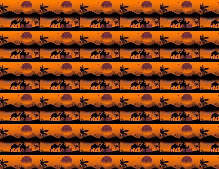 Vinylová Tapeta Beduínské velbloudí karavana - Savci