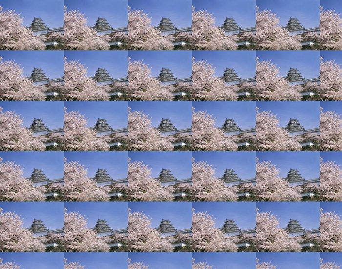 Vinylová Tapeta 桜 と 姫 路 城 -