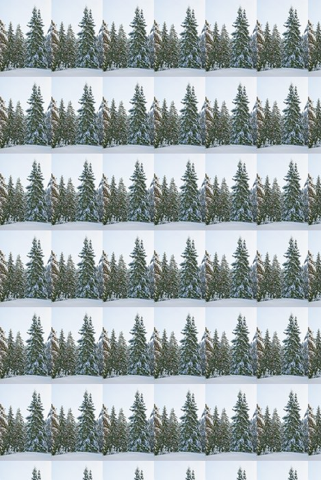 Winter forest Vinyl Wallpaper - Forests