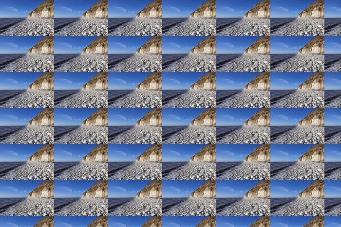 Vinylová Tapeta Bílá oblázková pláž - Voda