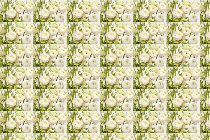 Vinylová Tapeta Bílá Ranunculus - Květiny