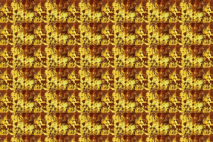 Vinylová Tapeta Žlutá barva Peeling na kovovými dveřmi - Struktury
