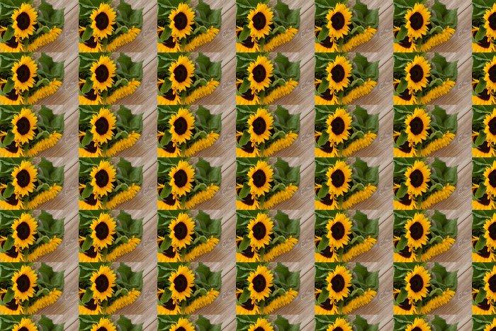 Vinylová Tapeta Čerstvé kytici žlutých slunečnic zavřít - Témata