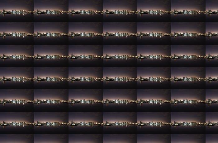 Vinylová Tapeta Noční pohled na Aventura od Sunny Isles Beach přes Intercoastal - Město