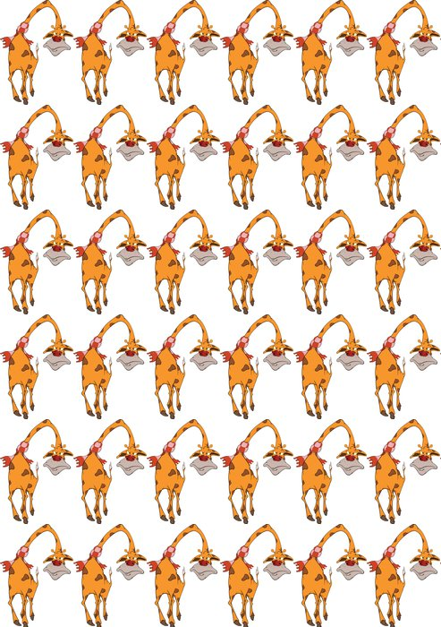 Vinylová Tapeta Žirafa karikatura - Zdraví a medicína