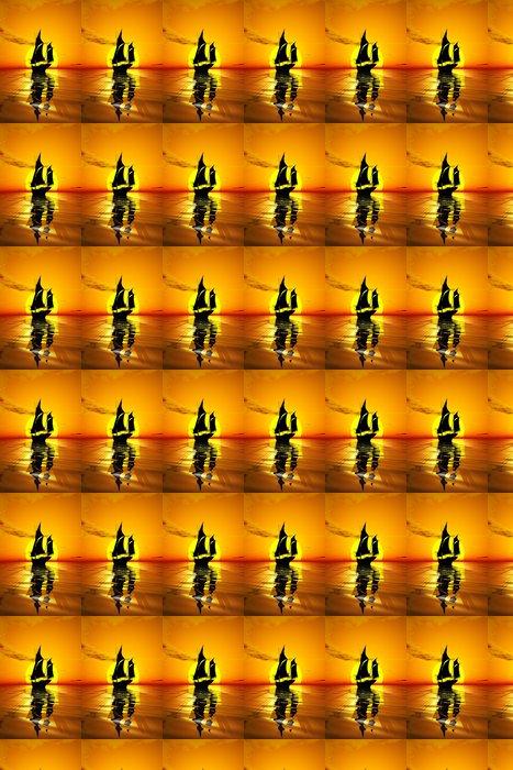 Vinylová Tapeta Plachetnice při západu slunce - Lodě