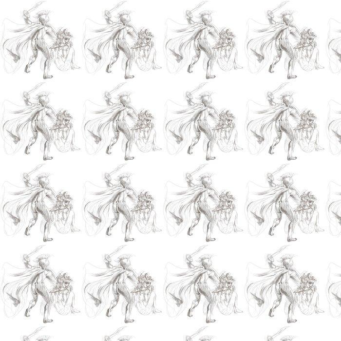 Vinylová Tapeta Řecké mýty (Full velké ruční kresba) - Perseus, Medusa - Ezoterika