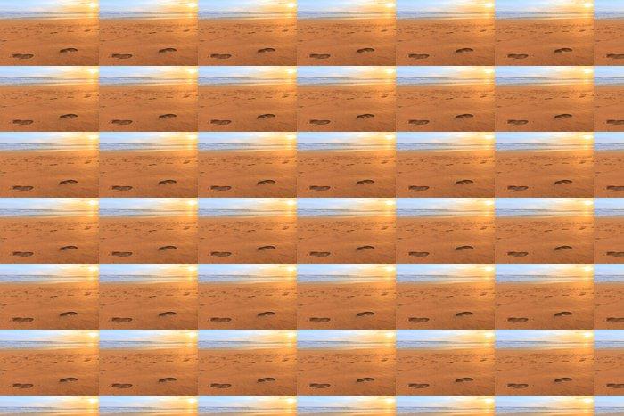 Vinylová Tapeta Noha tisk na západ slunce pláži - Asie
