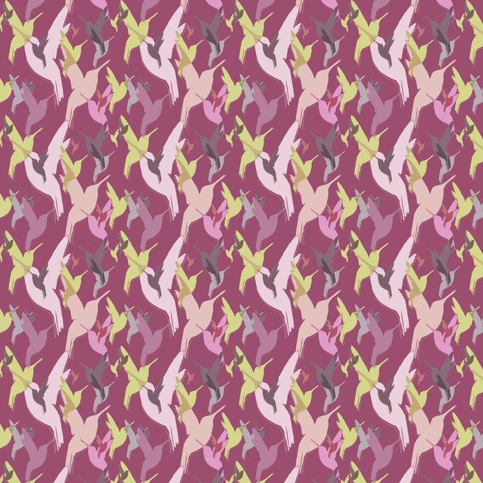 Vinylová Tapeta Bezešvé vzor kolibříci - Ptáci