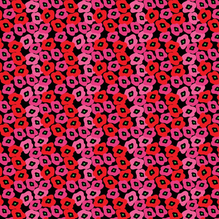 Vinylová Tapeta Stylový model s červenými máky - Slavnosti