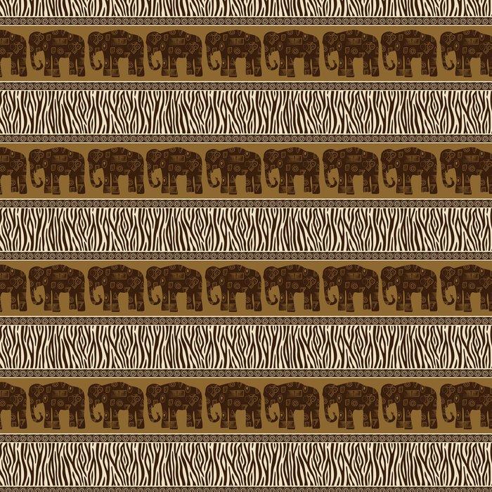 Vinylová Tapeta Bezešvé vzory s slonů a zebří kůže. - Criteo