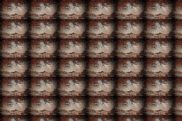 Vinylová Tapeta Betonu s trhlinami a grunge cihlová zeď - Struktury