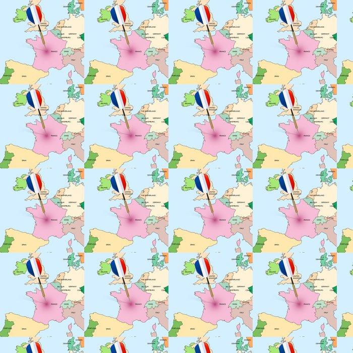 Vinyltapete Target - Frankreich. Dart trifft in Frankreich auf Europa-Karte. - Themen