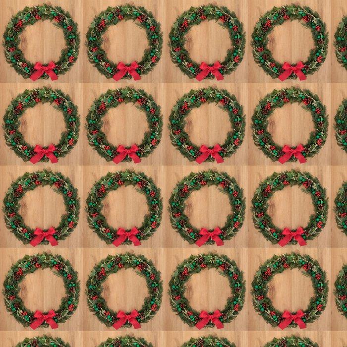 Vinylová Tapeta Vánoční věnec - Mezinárodní svátky
