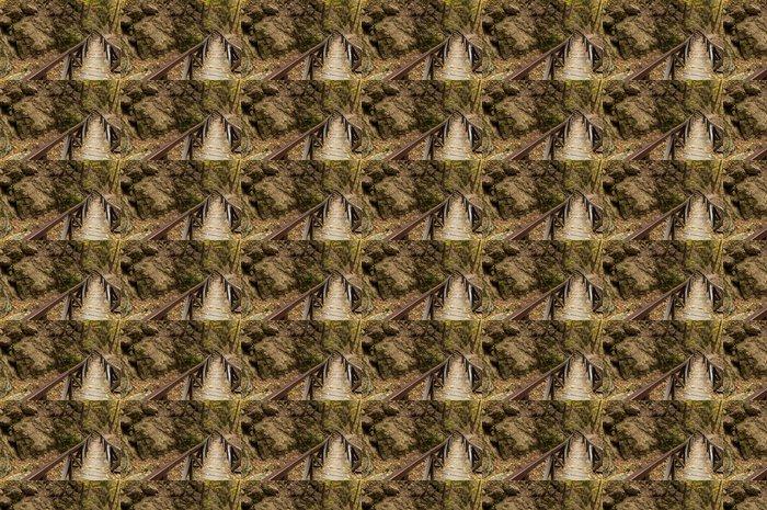 Vinylová Tapeta Malý most v lese - Roční období