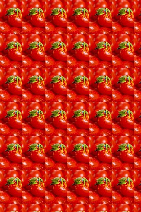 Vinylová Tapeta Žába na rajčatech - Ostatní Ostatní