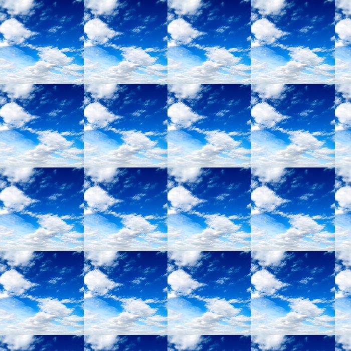 Vinylová Tapeta Bílé mraky na modré obloze - Nebe