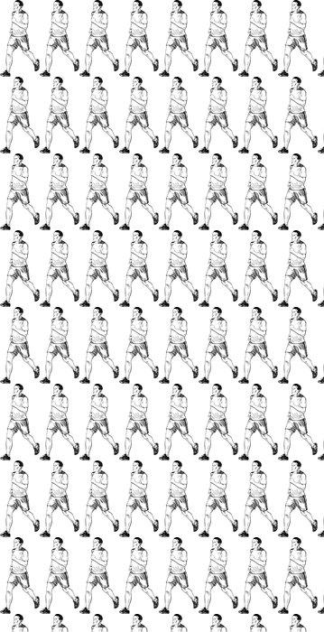 Vinylová Tapeta Running Man - Individuální sporty