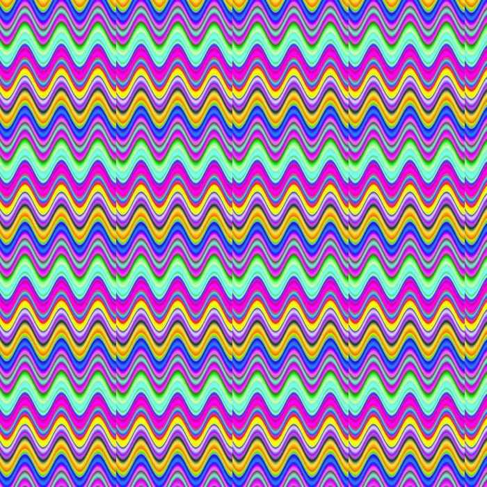 Vinylová Tapeta Zářivé vícebarevný digitální vlny ilustrační. - Abstraktní