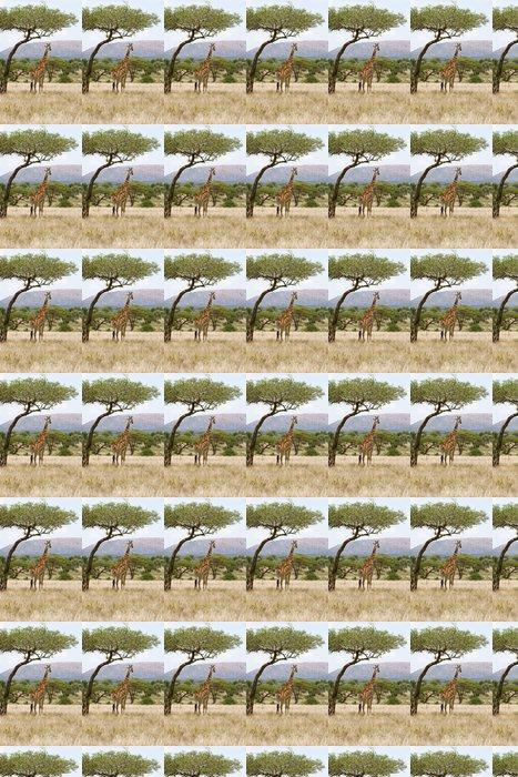 Vinylová Tapeta Žirafa pod stromem v Africe - Témata