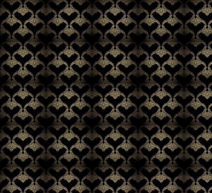 Vinylová Tapeta Seamless zlatá ozdoba - Struktury