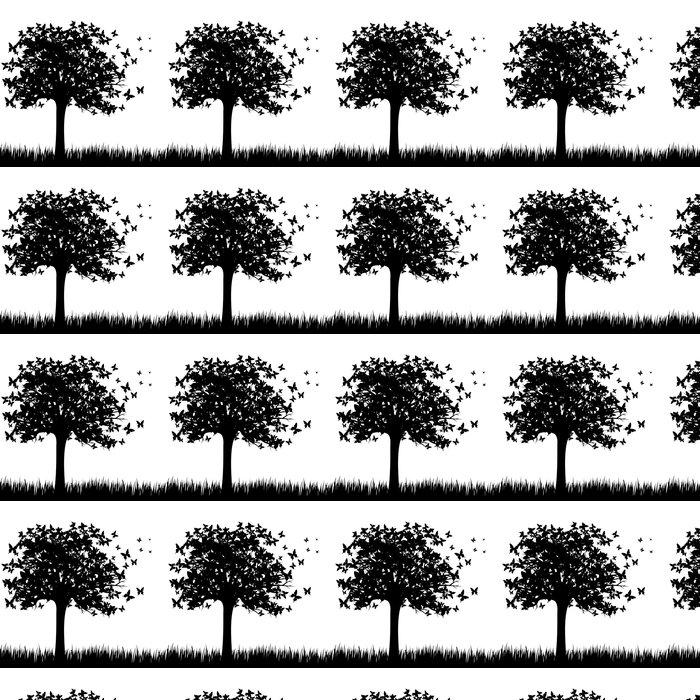 Papier peint motifs papillons arbre pixers nous - Papier peint motif arbres ...