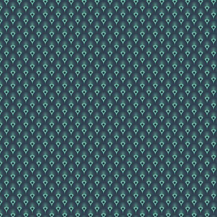 Tapeta Jednolite Niebieski Neon Art Deco Przykrywający Kwiatowy Wzór Wektor