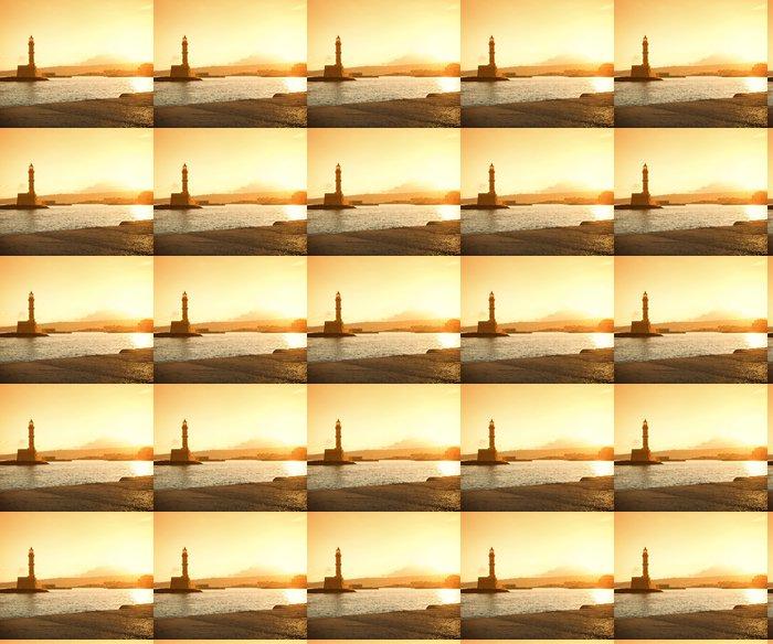 Vinylová Tapeta Krásný východ slunce na majáku - Voda