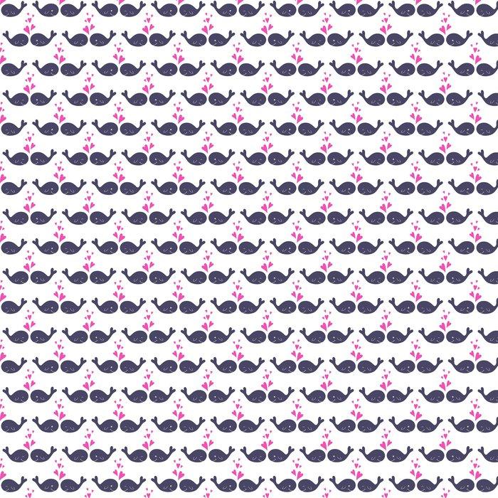 Fantastisch Tapete Nahtlose Muster Mit Niedlichen Cartoon Wale In Der Liebe. Liebe  Vektor Illustration. Baby Dusche Design. Helle Kindisch Karte. Sommer  Konzept Karte.